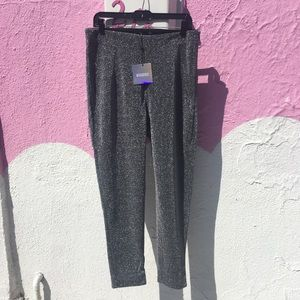 Missguided silver sparkle tapered trousers
